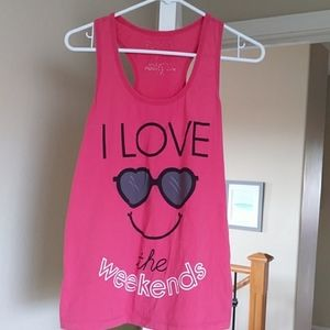 Forever 21 pink tank top